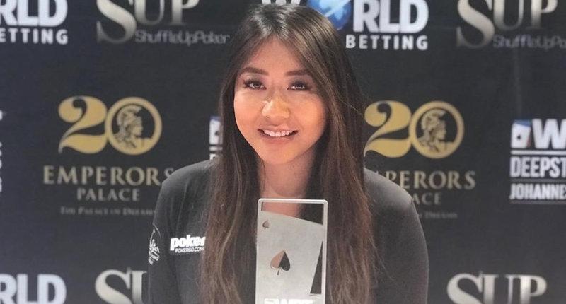 【蜗牛棋牌】Maria Ho赢得WPT巡回赛约翰内斯堡站深筹码锦标赛冠军