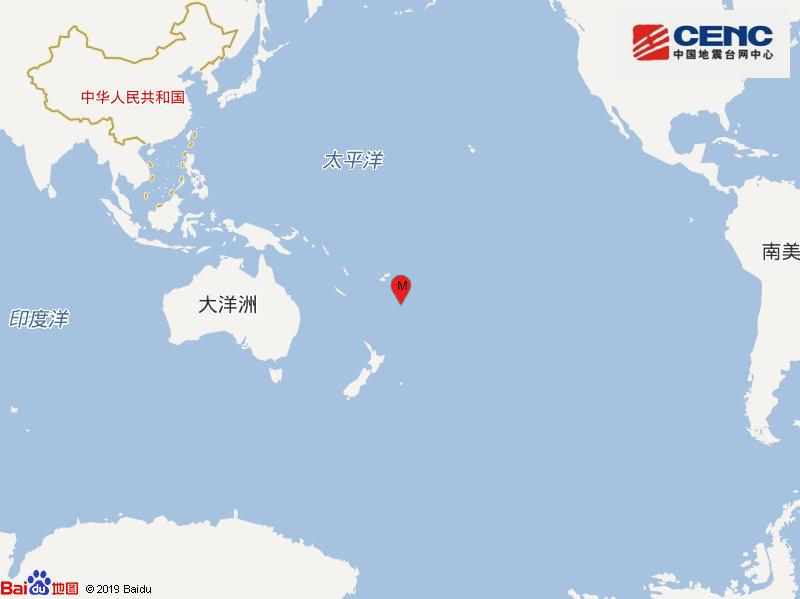 【蜗牛棋牌】斐济群岛以南发生5.3级地震 震源深度100千米