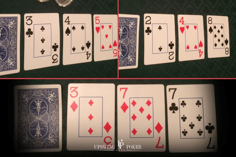【蜗牛棋牌】在不利位置时,你如何在小牌翻牌面获胜?