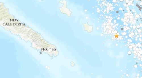 【蜗牛棋牌】法属新喀里多尼亚海域发生5级地震 震源深10公里