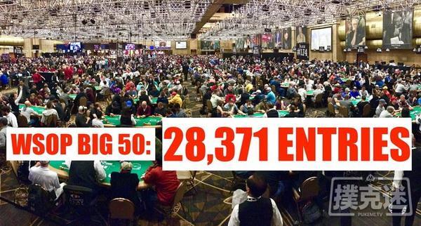 【蜗牛棋牌】WSOP BIG50纪念赛事创下参赛人数最多新记录