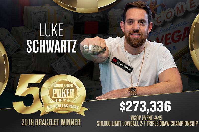 【蜗牛棋牌】英国线上豪客牌手Luke Schwartz赢得职业生涯第一条金手链