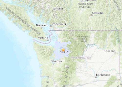 【蜗牛棋牌】美华盛顿州西部发生4.6级地震 震源深度22.3公里