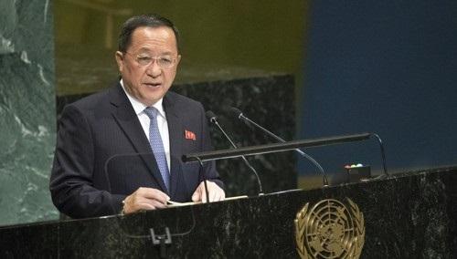 【蜗牛棋牌】朝鲜外相李勇浩谴责蓬佩奥:美国外交的毒草