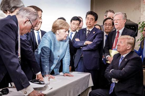 """【蜗牛棋牌】当着世界媒体的面 特朗普称G7峰会开得很""""团结"""""""