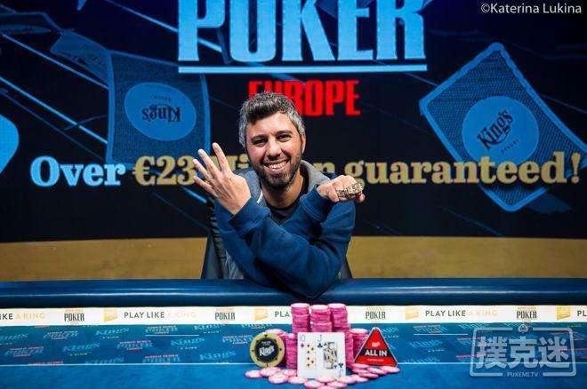 【蜗牛棋牌】Asi Moshe赢得€1,650 PLO/NLHE混合赛冠军