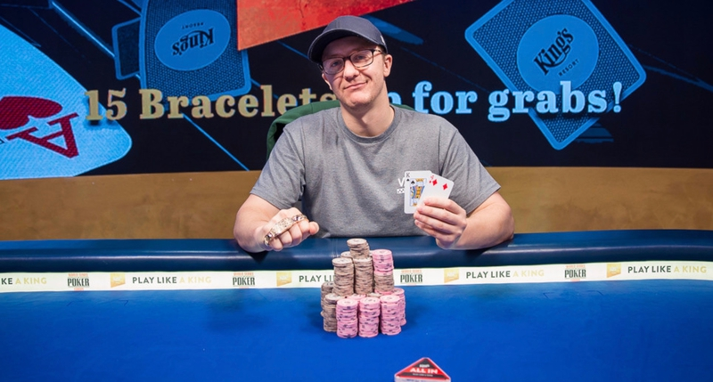 【蜗牛棋牌】Kahle Burns取得WSOP-E €25,500铂金豪客赛冠军