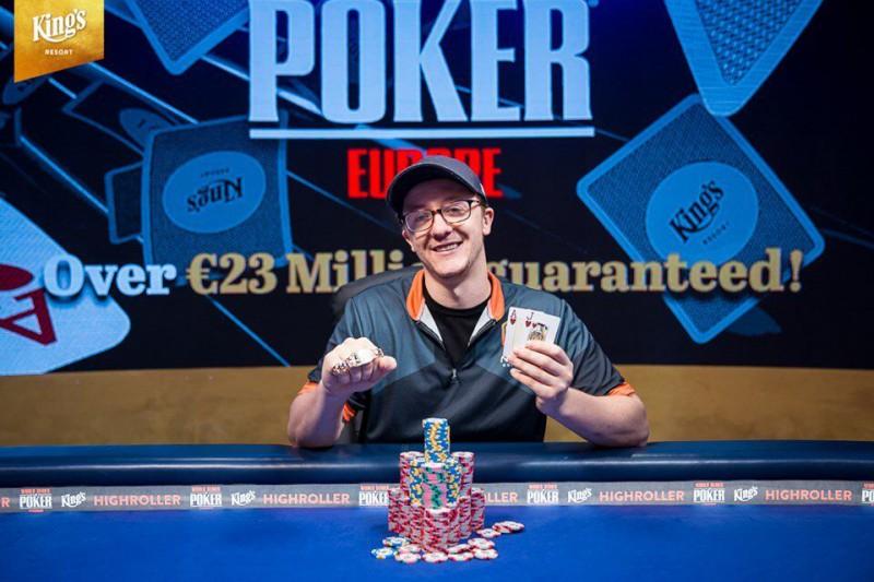 【蜗牛棋牌】Kahle Burns取得WSOPE €2,500短牌赛胜利,收获该站第二条金手链