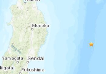 【蜗牛棋牌】日本东部海域发生4.8级地震 震源深度10千米