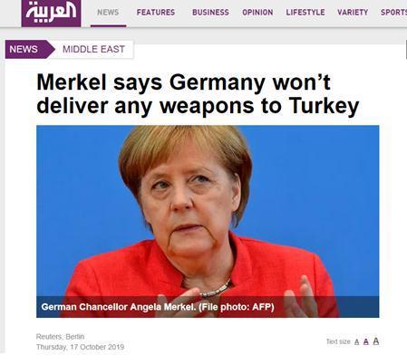 【蜗牛棋牌】默克尔:当前形势下 德不会向土耳其提供任何武器