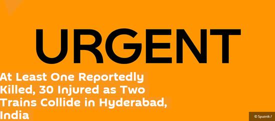 【蜗牛棋牌】印度两列火车相撞 造成至少1死30伤