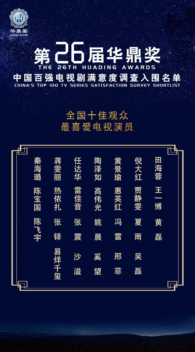 【蜗牛棋牌】新生代演员易烊千玺、热依扎获华鼎奖十佳演员提名 演技才是硬通货