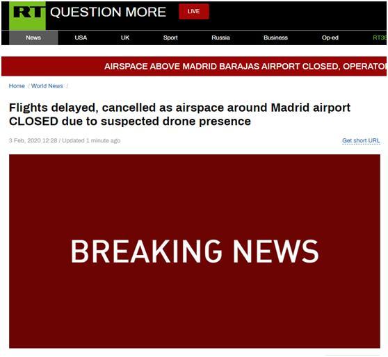 【蜗牛棋牌】疑似出现无人机 西班牙最大机场周围空域紧急关闭
