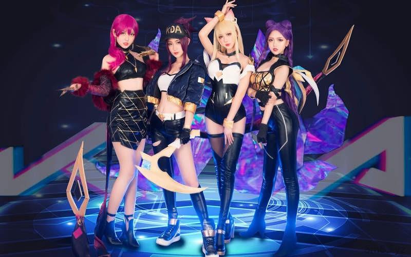 【蜗牛棋牌】波利花菜园Cosplay虚拟女团歌曲《POP/STARS》 翻跳团体还原MV超洗脑