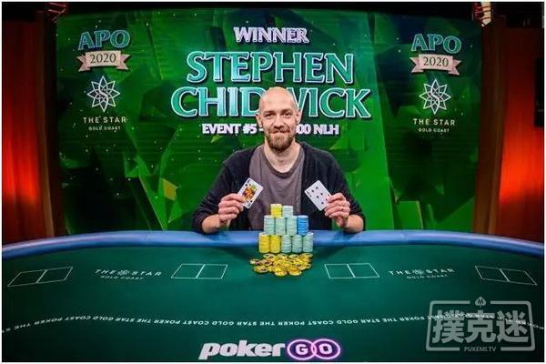 【蜗牛棋牌】Stephen Chidwick登顶澳洲扑克公开赛积分榜