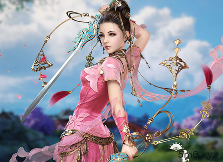 【蜗牛棋牌】小萝莉Cosplay《剑侠情缘网络版叁》七秀 高度还原小仙女七秀