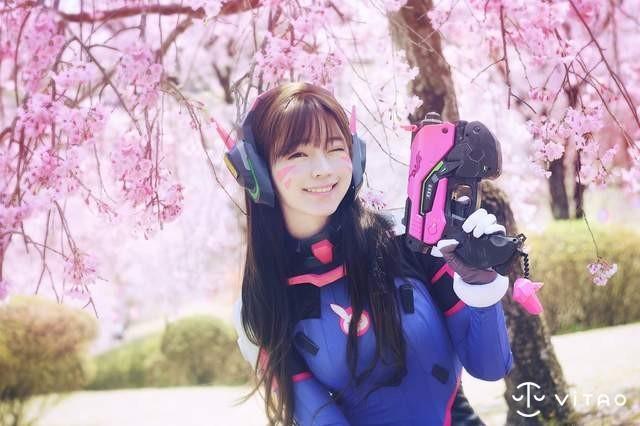 【蜗牛棋牌】韩国超人气模特儿Yurisa Cosplay D.Va CG美少女甜美梦幻