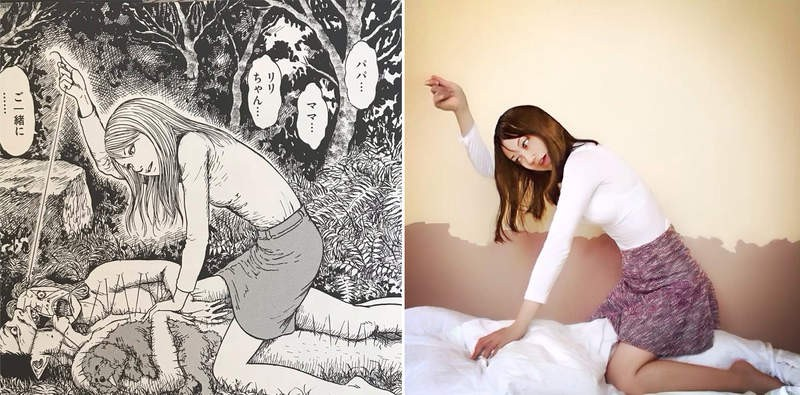 【蜗牛棋牌】网友Cosplay伊藤润二恐怖漫画 彩绘妆拍照神还原经典角色