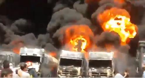 【蜗牛棋牌】伊朗西部一工业园区多辆油罐车爆炸 现场火光冲天