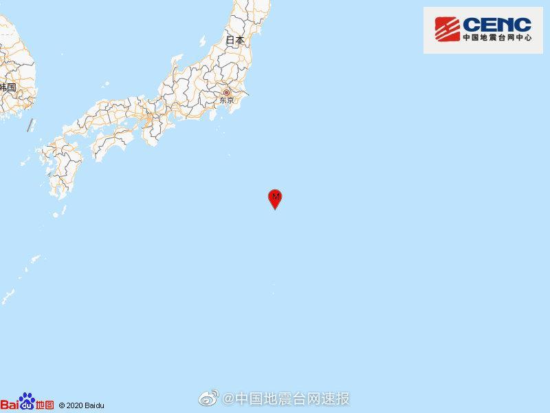 【蜗牛棋牌】日本本州东南海域发生5.7级地震,震源深度60千米