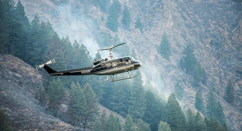 【蜗牛棋牌】美国一架消防直升机坠毁引发火灾 飞行员身亡