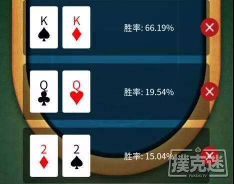 【蜗牛棋牌】德州扑克中三人翻前全压,你对各自的胜率心里有数吗