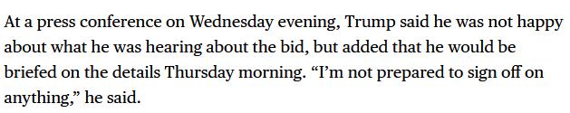 【蜗牛棋牌】特朗普:不满意TikTok与甲骨文拟定的协议 不准备签署