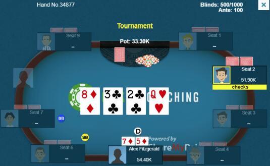 【蜗牛棋牌】德州扑克将常客玩家逼至绝境