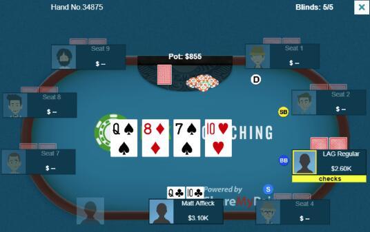 【蜗牛棋牌】德州扑克有趣的3bet底池