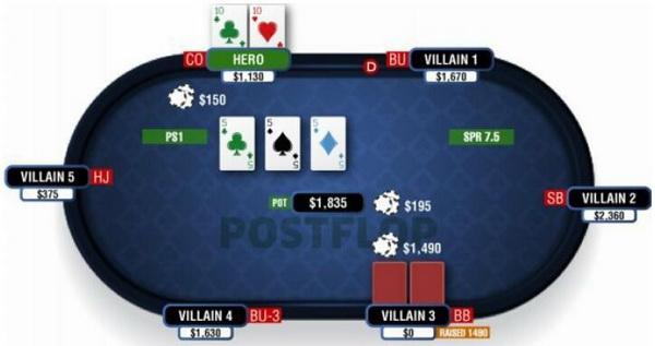 【蜗牛棋牌】德州扑克由三条公共牌和口袋对子组成的葫芦