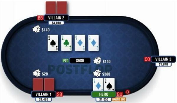【蜗牛棋牌】德州扑克翻牌圈击中葫芦或四条-2
