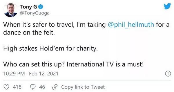 【蜗牛棋牌】立陶宛大佬Tony G挑战Phil Hellmuth!就一个条件 全球直播!