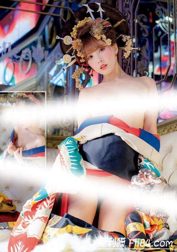 【蜗牛棋牌】暗黑天后三上悠亚2020新年周刊性感写真花魁打扮超辣!