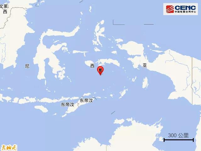 【蜗牛棋牌】班达海发生5.9级地震 震源深度330千米