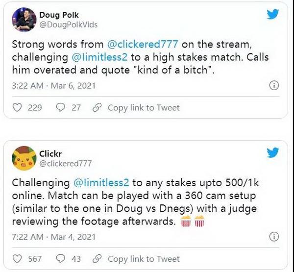【蜗牛棋牌】Doug Polk怀疑Fedor Holz vs limitless单挑有猫腻