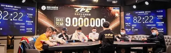 【蜗牛棋牌】2021 TPC老虎杯 | 主赛事第三轮26人晋级,林思丞以460w记分量领先!