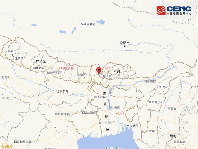 【蜗牛棋牌】不丹发生4.8级地震 震源深度28千米