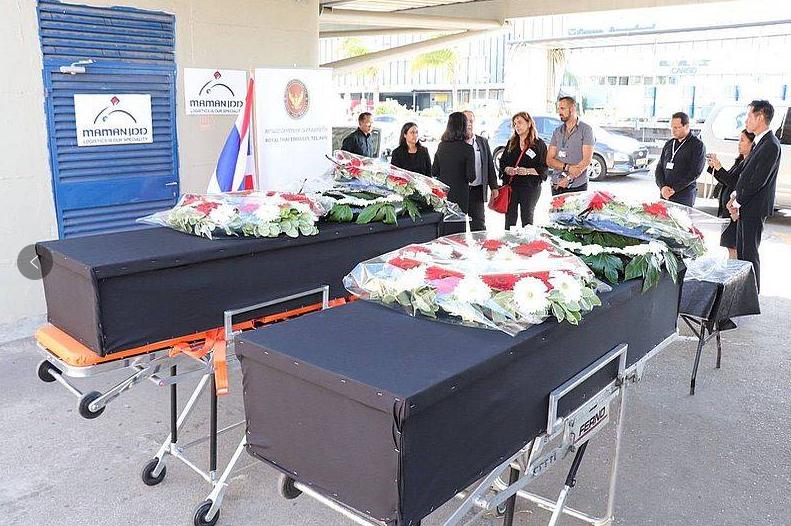 【蜗牛棋牌】两名在巴以冲突中身亡的泰国劳工遗体被运回泰国