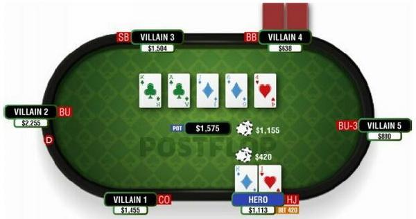 【蜗牛棋牌】德州扑克使你构成底大两对的翻牌面-1
