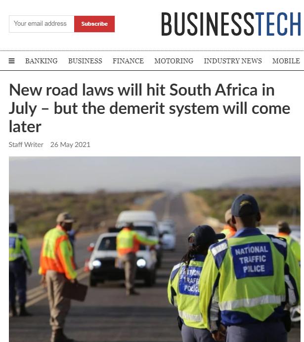 【蜗牛棋牌】南非7月1日起对道路交通违法行为实行计分处罚制度