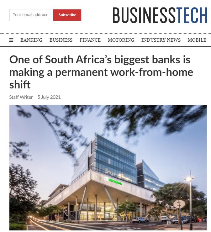 【蜗牛棋牌】南非部分银行将实施永久性在家办公