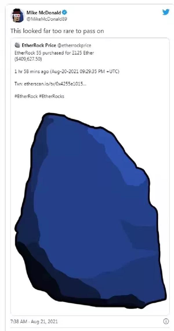 【蜗牛棋牌】Mike McDonald用40W美元买了一张石头图片
