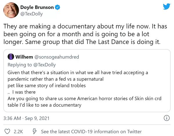 【蜗牛棋牌】Dolye Brunson纪录片正在火热拍摄中