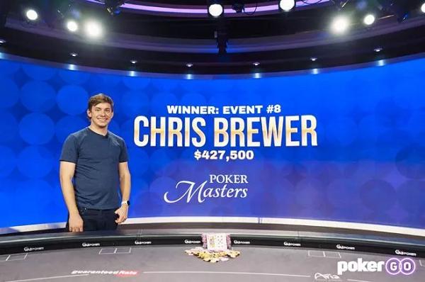 【蜗牛棋牌】Chris Brewer崭露头角 获得扑克大师赛赛事#8冠军